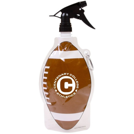 HydroPouch!™ 22 oz. Football Collapsible Water Bottle with Spray Top - Patented
