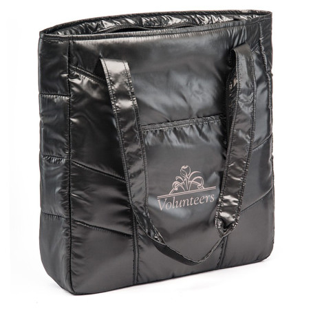 Imprinted Shiny Polyester Everything Tote