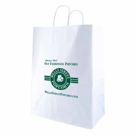 Imprinted-White-Kraft-shopping-bags