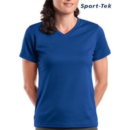 Sport-Tek® - Dri-Mesh® Ladies V-Neck T-Shirt