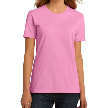 Port & Company Ladies Essential 100% Organic Ring Spun Cotton T-Shirt (Apparel)