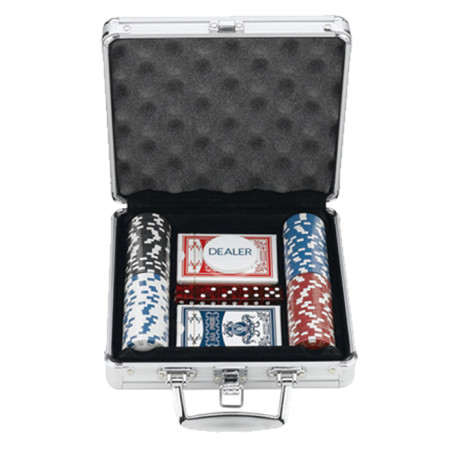 100 Chips Poker Set In Aluminum Case