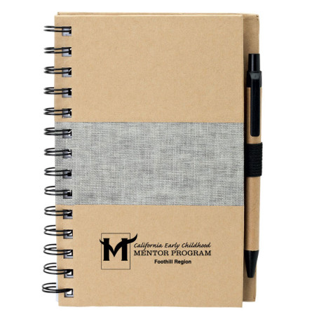Promotional Recycled Notebook with Pen