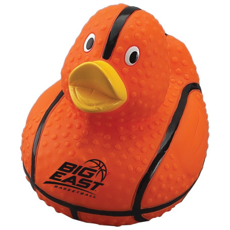 Printed Basketball Rubber Duck