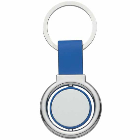 Printed Circular Metal Spinner Key Tag