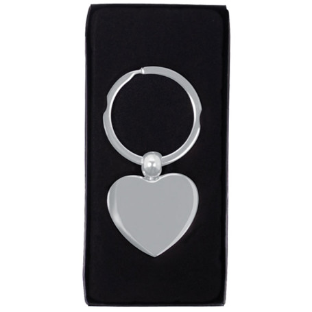 Printed Heart Metal Key Chain
