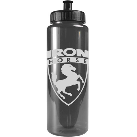 Printed 32 oz. Transparent BPA Free Color Bottles
