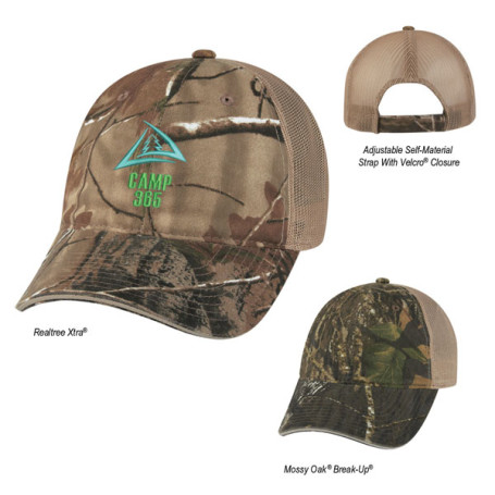 Promotional Hunter's Hideaway Mesh Back Camouflage Cap