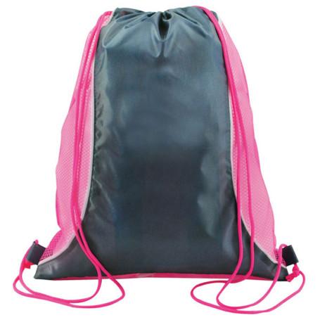 Two Tone Mesh Drawstring Bag