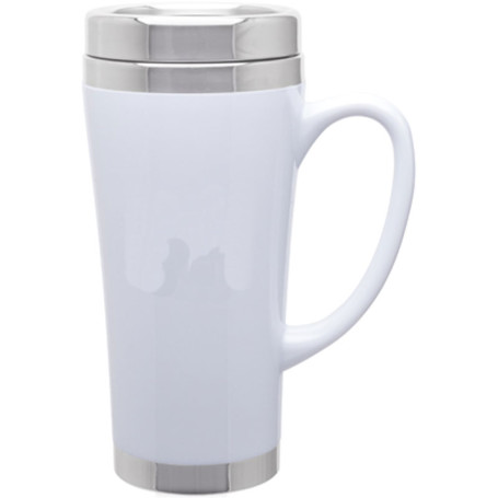 16 oz Fusion Stainless Steel Travel Mug
