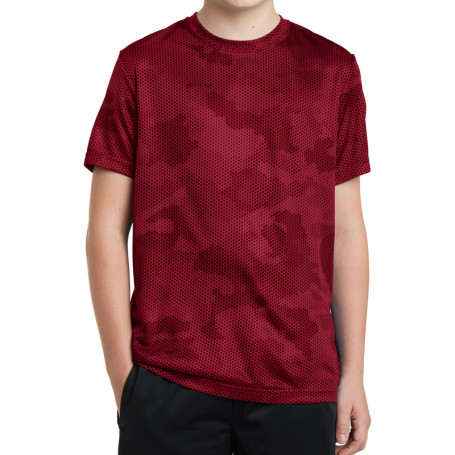 Sport-Tek Youth CamoHex Tee
