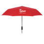 "Logo 46"" Arc Automatic Open And Close Folding Umbrella"