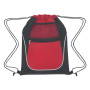 Logo Drawstring Sports Pack with Dual Pockets