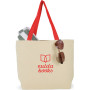 Printed Colored Handle Tote