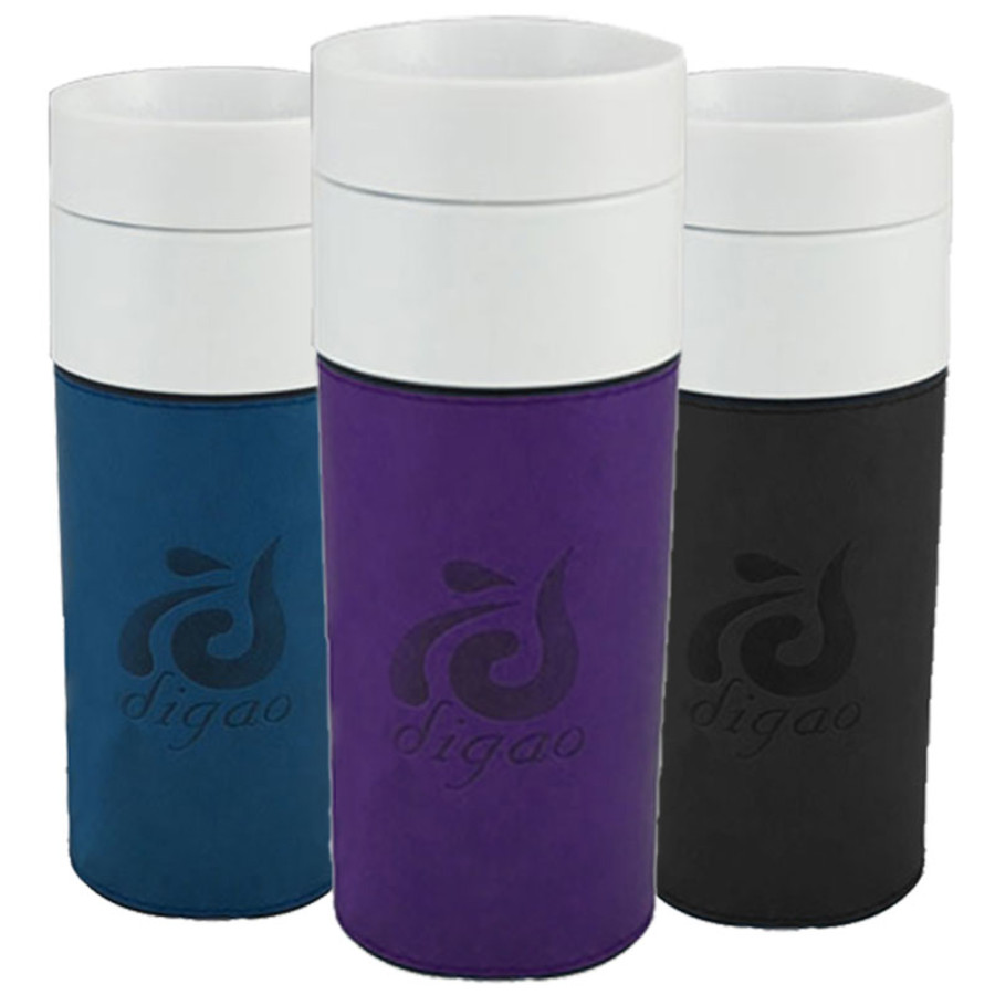 14 oz. Ceramic Tumbler with Leatherette Sleeve