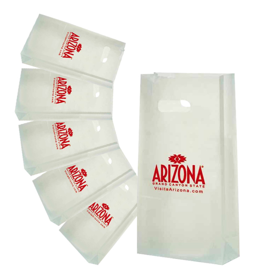 Custom Printed Frosted Die Cut Totes