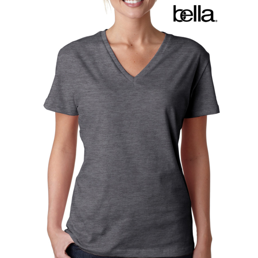 Bella Missy Short-Sleeve Jersey V-Neck Tee