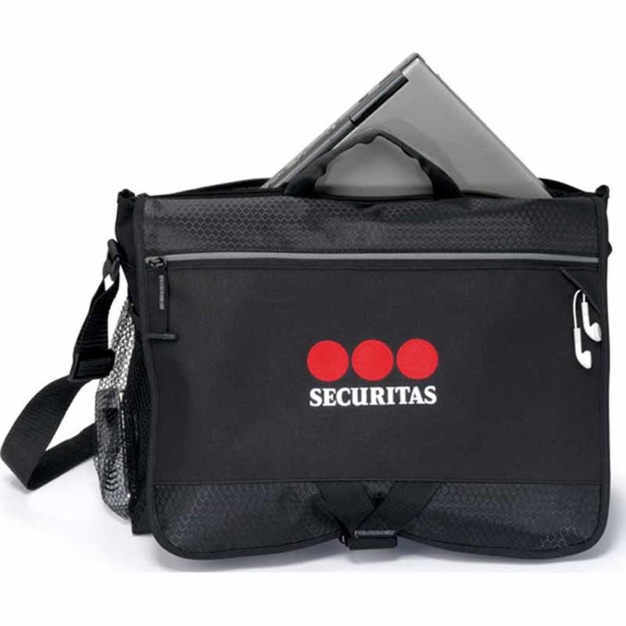 Imprinted Focus Computer Messenger Bag