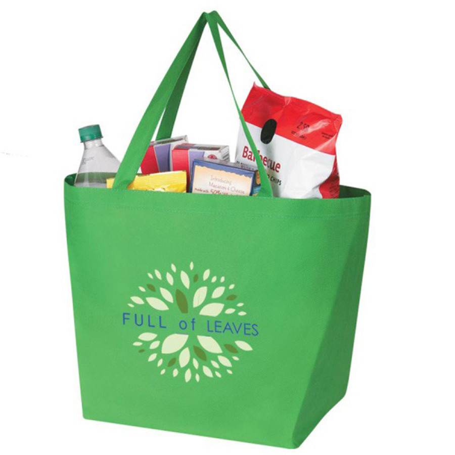 Imprintable Non-Woven Budget Shopper Tote Bag