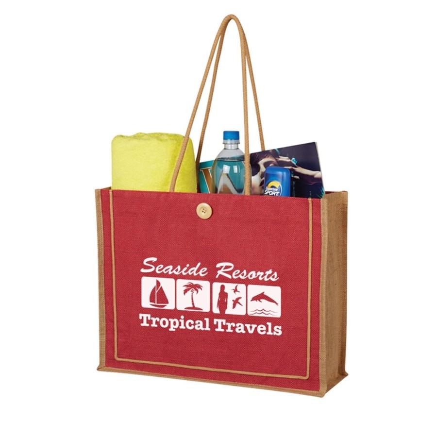 Paradise Jute Tote Bag