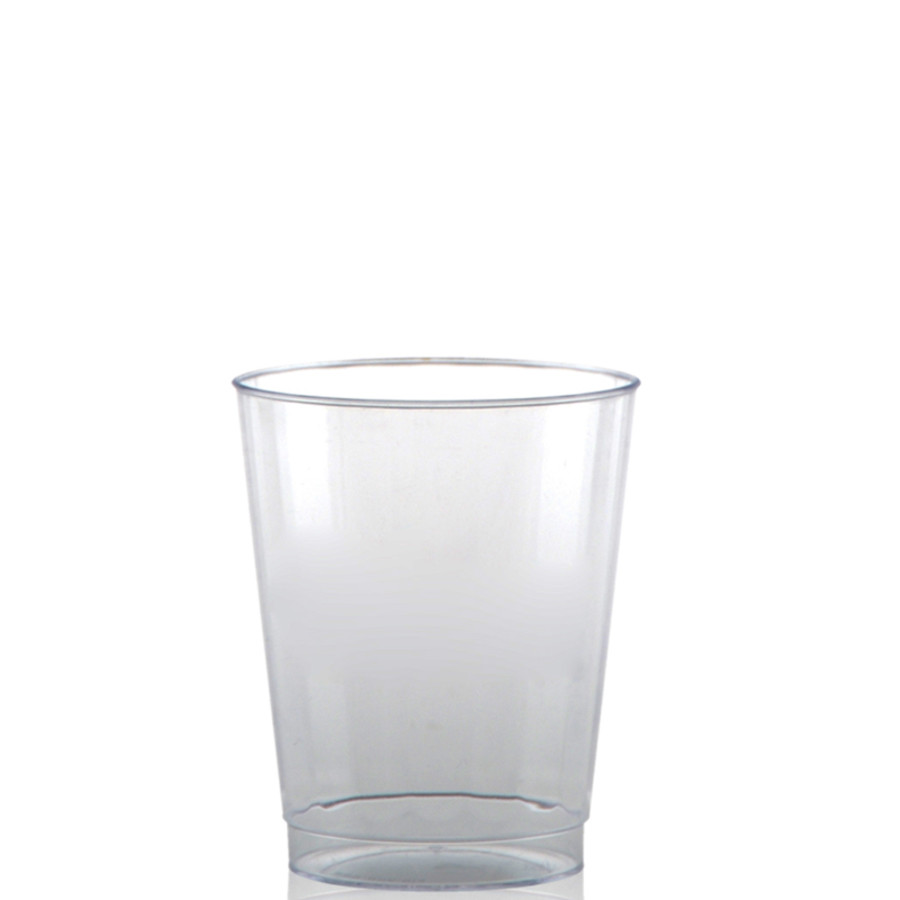 8 oz. Clear Fluted Plastic Cups