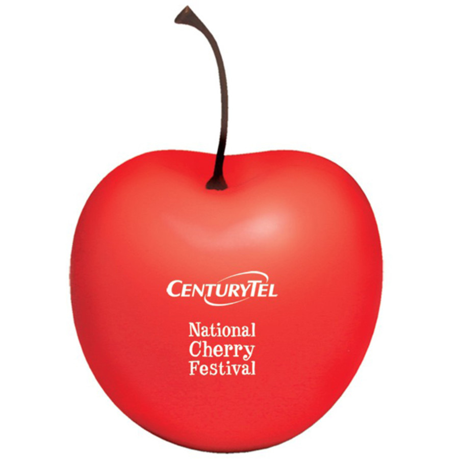 Custom Printed Cherry Stress Reliever
