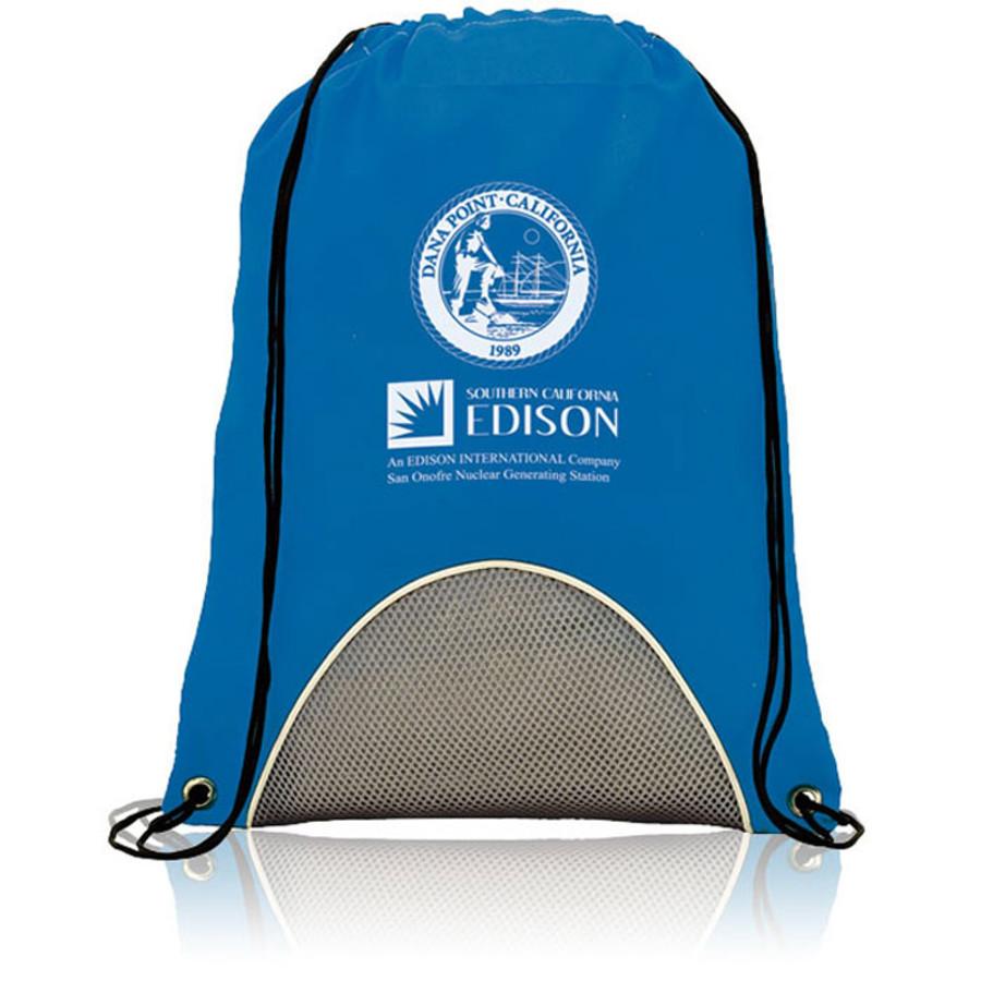 Custom Printed Fitness Drawstring Backpack