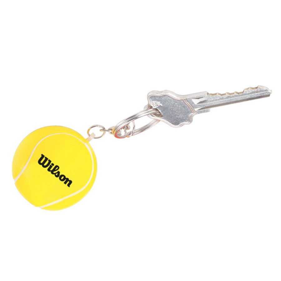 Custom Printed Tennis Ball Stress Reliever Key Chain