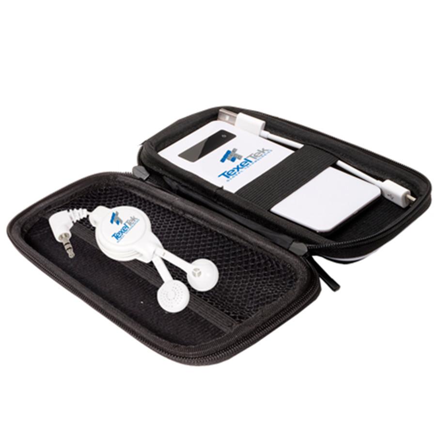 Custom Tough Tech™ Emergency Battery & Retractable Earbuds