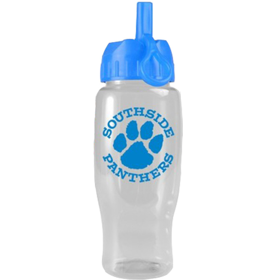 Custom Printed 27 oz. Poly-Pure Bottle with Flip Straw Lid