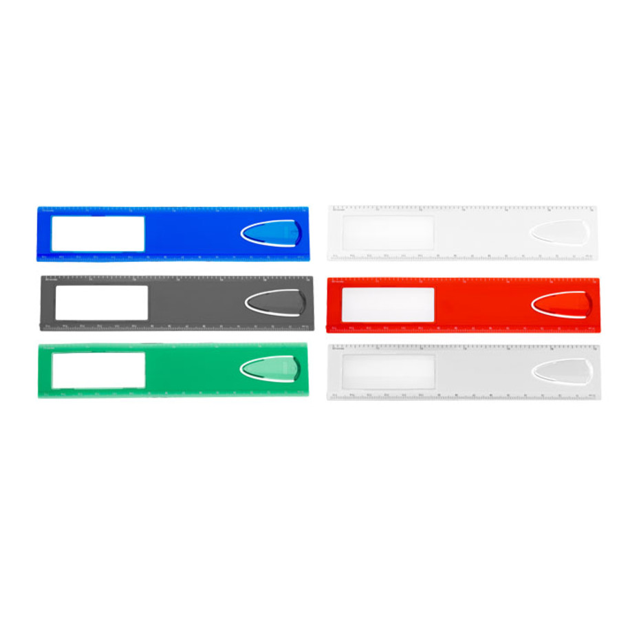 "Customizable 6"" Magnifier Ruler With Bookmark"