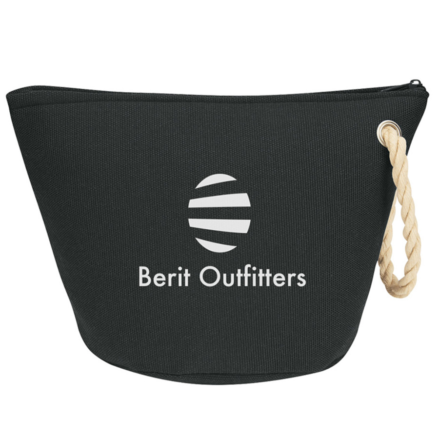 Customizable Cosmetic Bag With Rope Strap