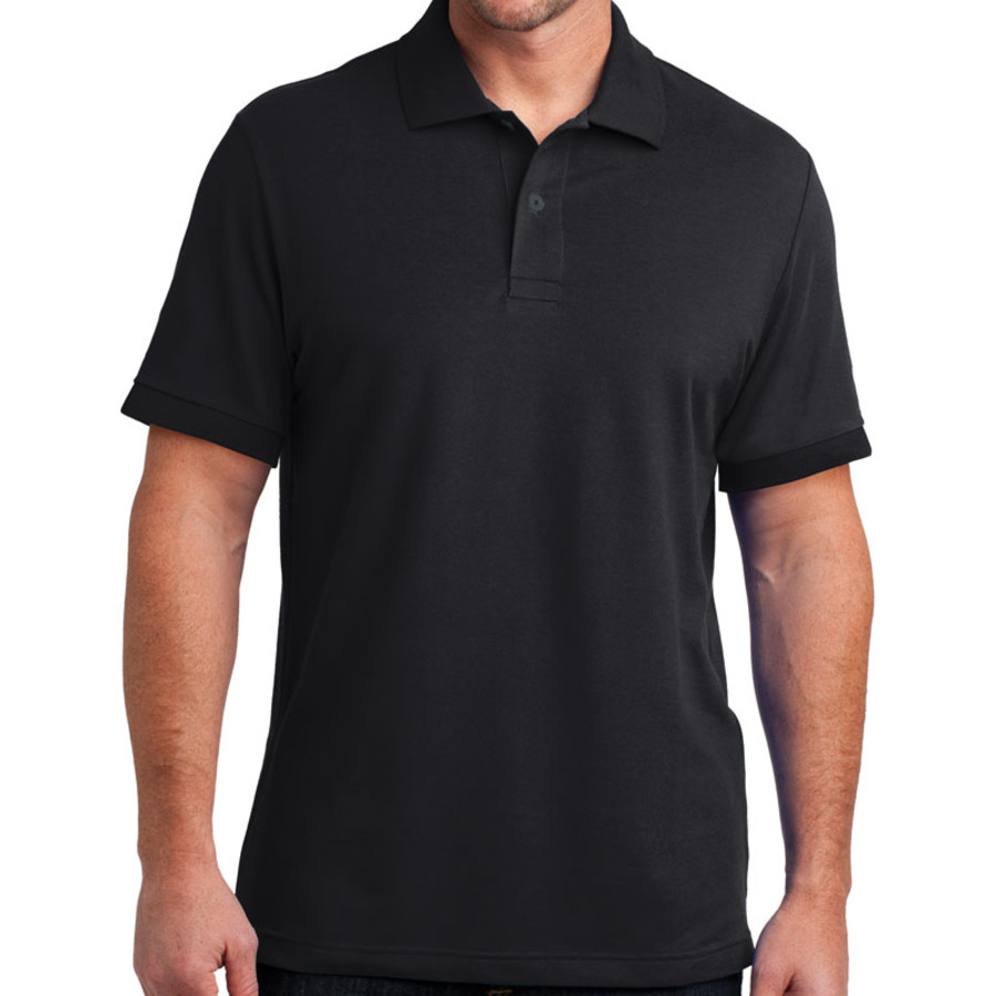 District Made Mens Stretch Pique Polo (Apparel)