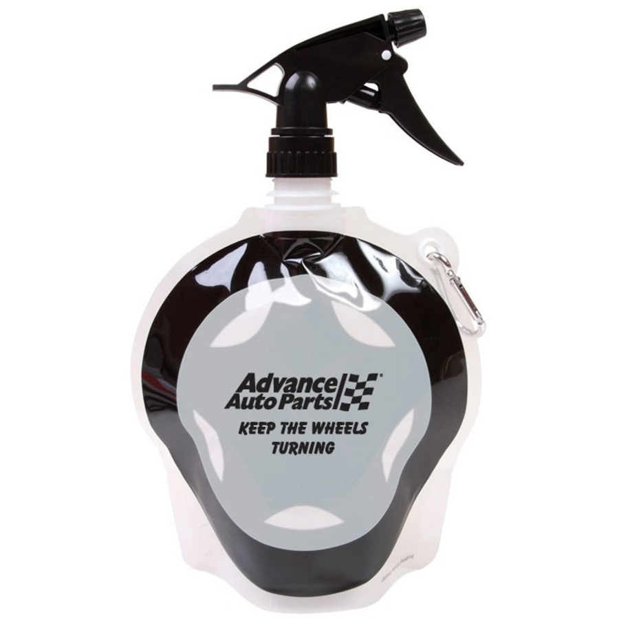 HydroPouch!™ 24 oz. Tire Collapsible Spray Top Water Bottle - Patented