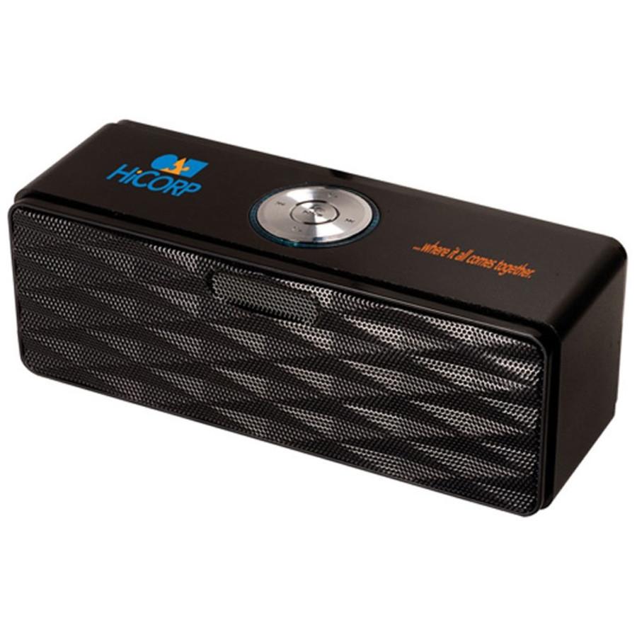 Printed Bluetooth® Mini-Boom Speaker/FM Radio