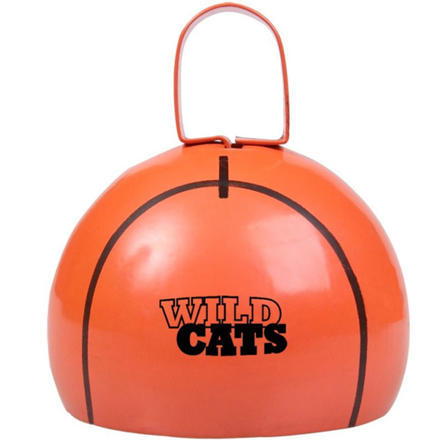 Imprinted Basketball Cow Bell