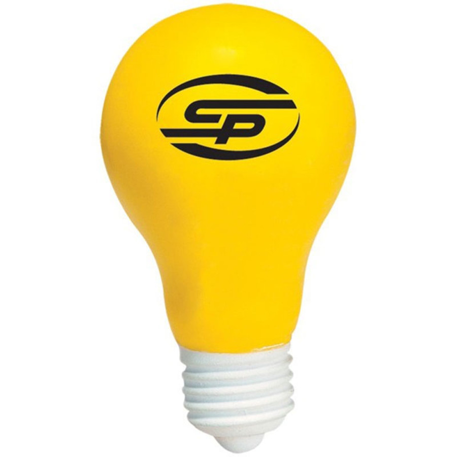 Imprinted Light Bulb Stress Reliever