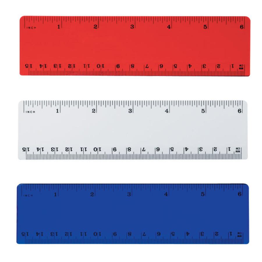 """Imprinted Plastic 6"""" Ruler"""