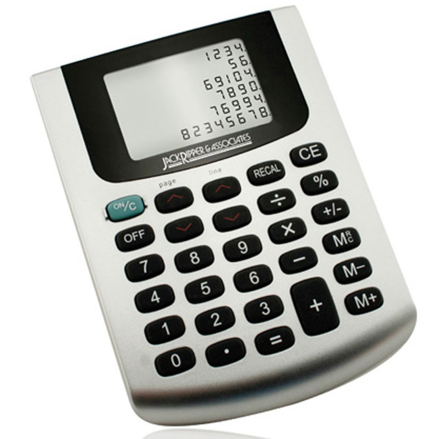Imprinted Six Line Desk Top Table Calculator