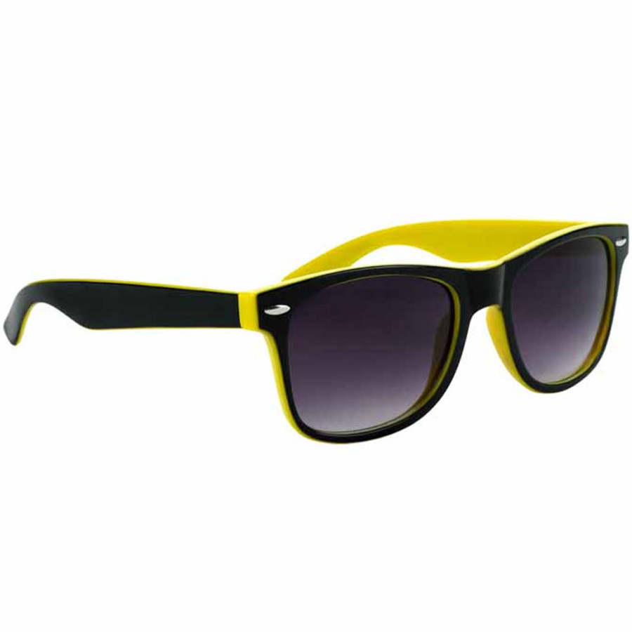 Imprinted Two-Tone Malibu Sunglasses