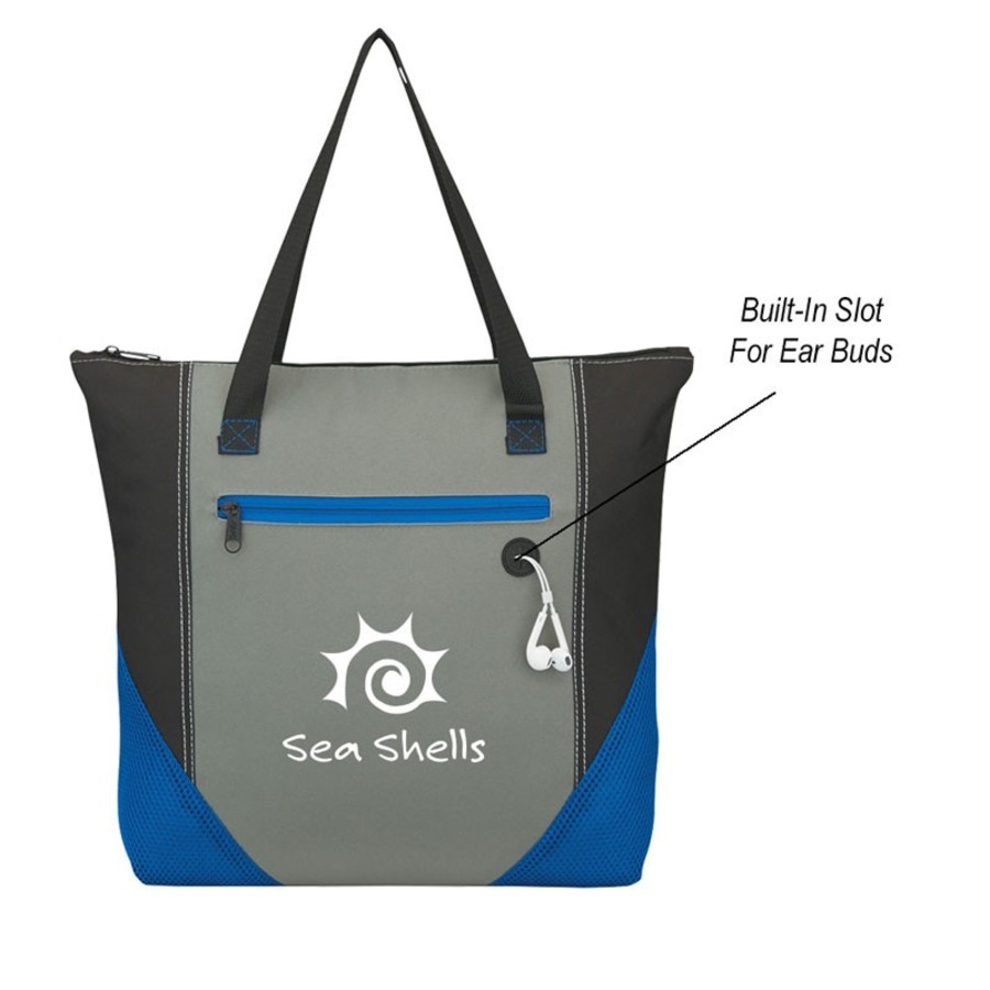Delta Zippered Tote Bag