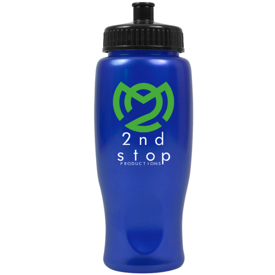 Imprinted ShimmerZ 27 oz. Sport Bottle with Push-Pull