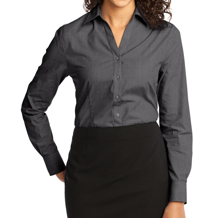 Port Authority Ladies Crosshatch Easy Care Shirt (Apparel)