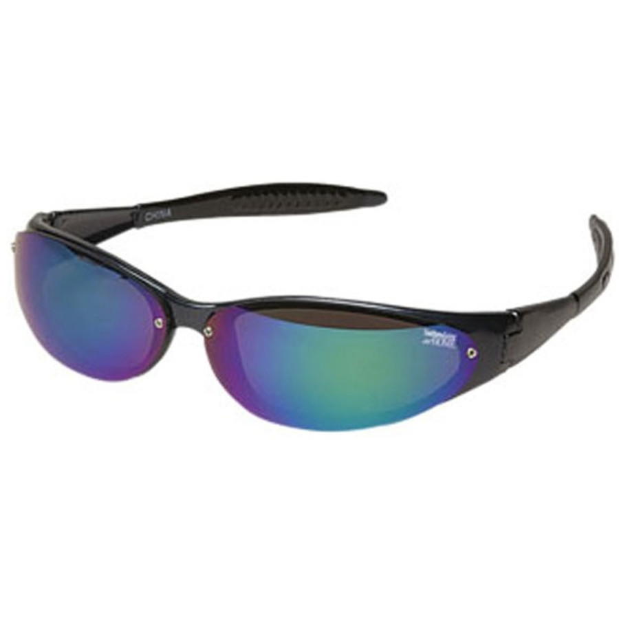 Logo Sunglasses Wrap Style with Mirror Lenses