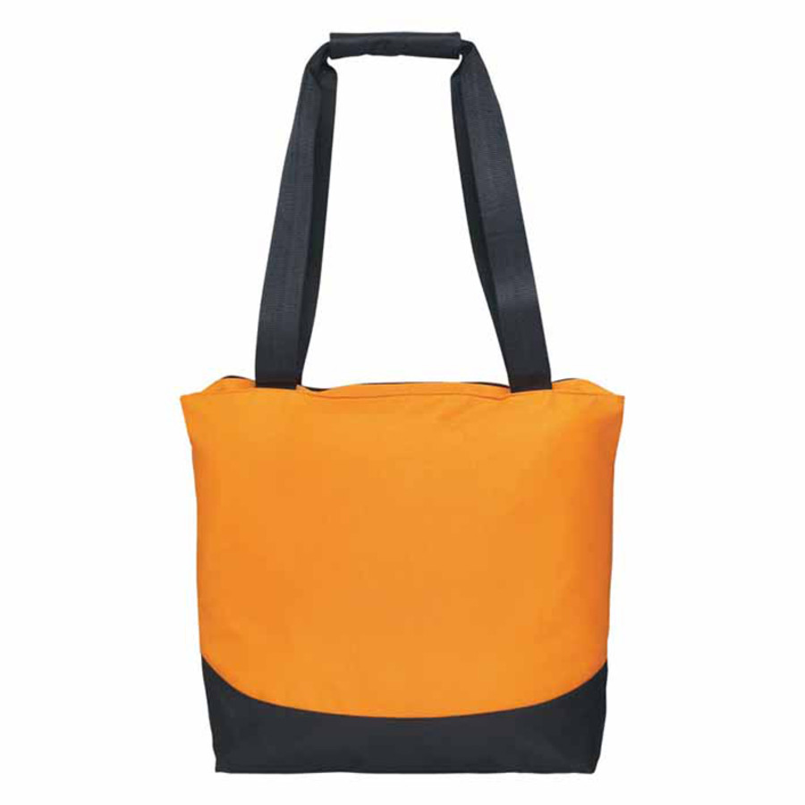 Monogrammed Curve Tote Bag