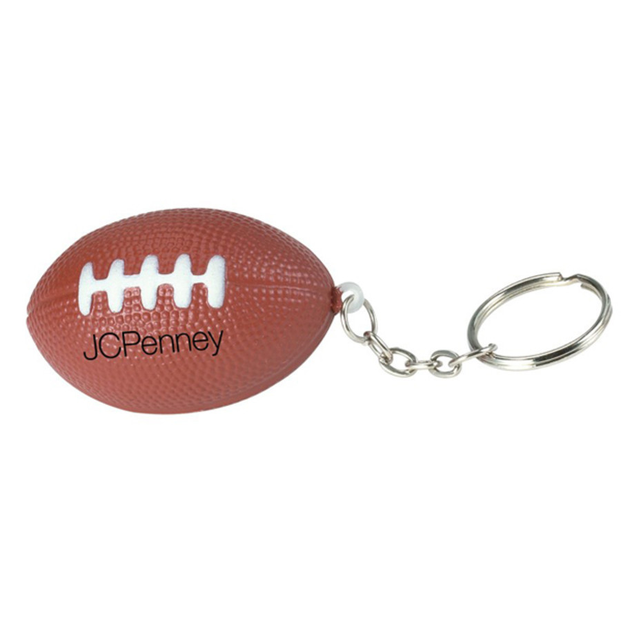 Monogrammed Football Stress Reliever Key Chain