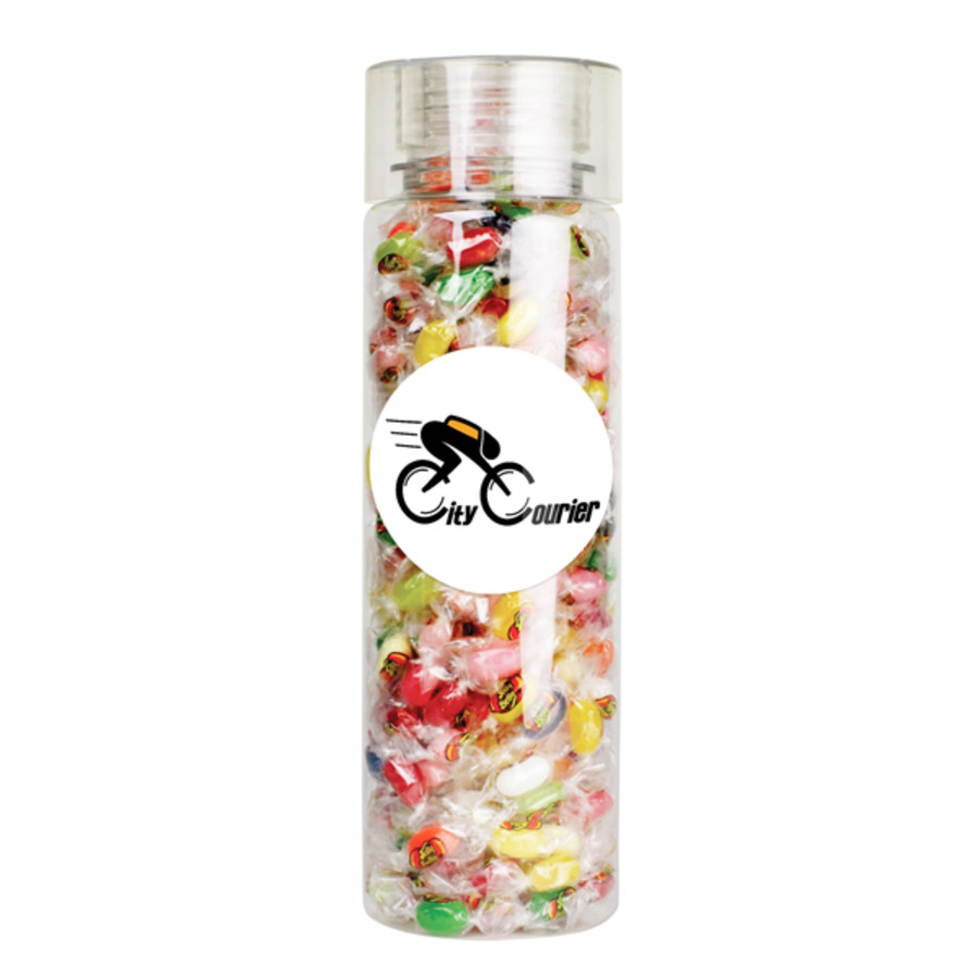 Personalized 28oz Cylinder Bottle - Jelly Bellys