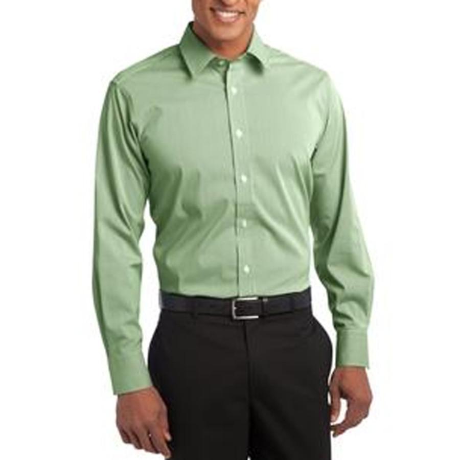 Port Authority - Fine Stripe Stretch Poplin Shirt