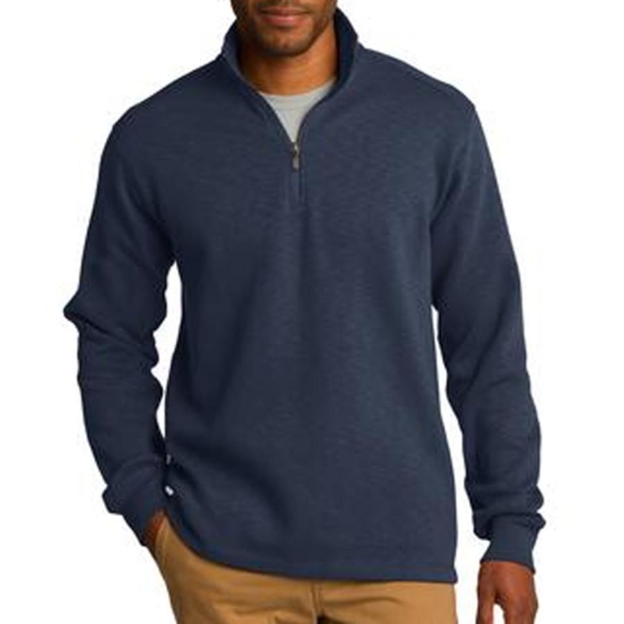 Port Authority Slub Fleece 1/4-Zip Pullover
