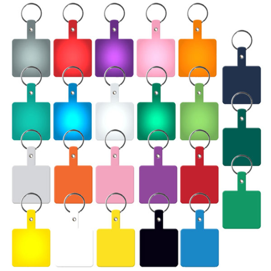 Printable Square Flexible Key Tag